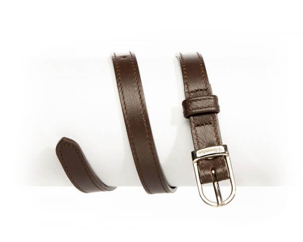English Style Leather Spur Straps Walnut
